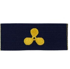 Vanguard Coast Guard Embroidered Collar Device: Naval Engineering - Ripstop Fabric Front View