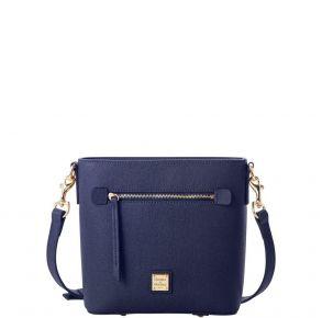 Dooney & Bourke Saffiano Small Zip Crossbody Handbag - Marine Front View