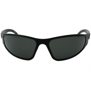 Gatorz Eyewear Wraptor ANSI Z87+ Black/Smoked Anti-Fog Non-Polarized Sunglasses Front View