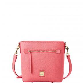 Dooney & Bourke Saffiano Small Zip Crossbody Handbag - Bubblegum Front View