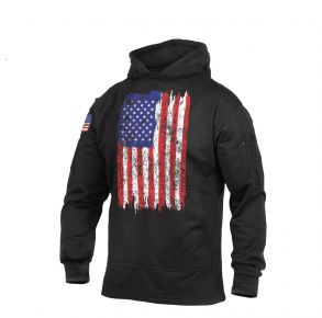 Rothco Mens U.S. Flag Concealed Carry Hoodie Sweatshirt Front View