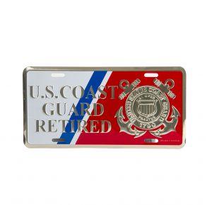 USCG Retired License Plate Frame