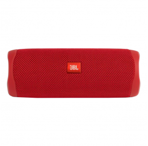 JBL Flip 5 Portable Bluetooth Speaker - Red Front View