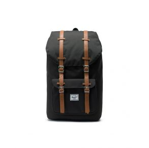 Herschel Supply Co. Little America Backpack - 25L - Black/Tan Front View