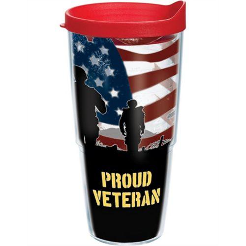 """""""Proud Veteran"""" Tervis Tumbler With Lid - 24 oz"""