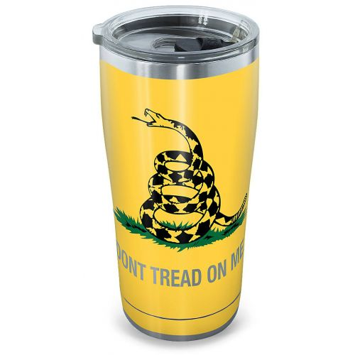 "Tervis® Stainless Steel ""Gadsden Flag"" Tumbler With Clear Lid - 20 oz"