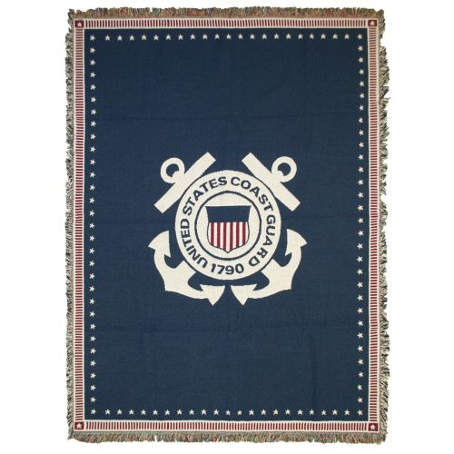 Coast Guard Woven Cotton Blanket