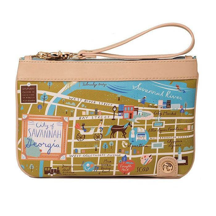 Spartina 449 greetings from map zip wristlet savannah for Housse zip collection captur